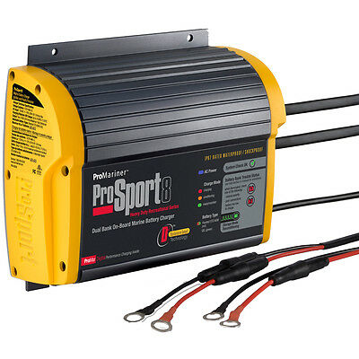 ProMariner ProSport 8 Gen 3 Heavy Duty Marine Battery Charger - 8 Amp - 2 Bank