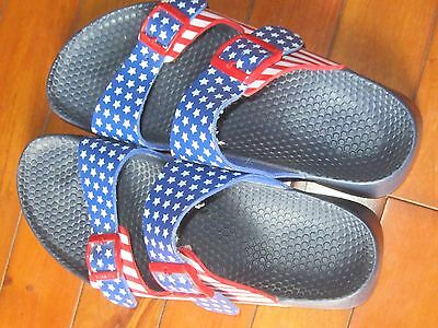 NICE Birkenstock Red White & Blue Flag Sandals Shoes Size 8 or Europe 39.5 EUC!