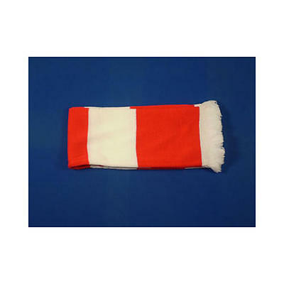 Red & White Retro Bar Scarf Football Rugby Team Fan Supporter Unisex
