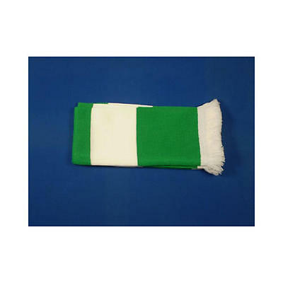 Green & White Retro Bar Scarf Football Rugby Team Fan Supporter Unisex