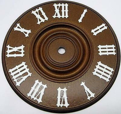 NEW Wooden Cuckoo Clock Dial 5 7/8 Inch 150 mm Diameter With White Color Numbers