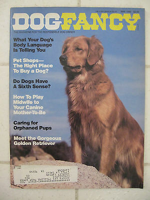 Vintage May 1986 DOG FANCY Magazine For Responsible Dog Owner GOLDEN RETRIEVER