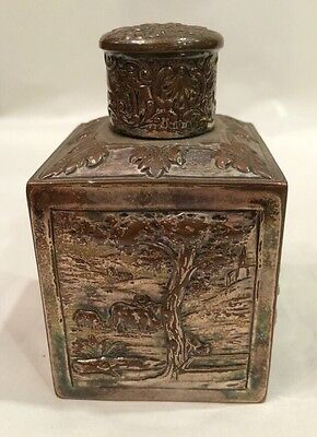 Small Silver Plated Tea Caddy