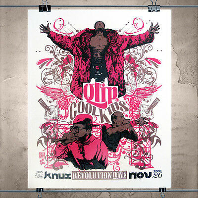 Q-Tip and The Cool Kids gigposter tribe called quest limited ed signed by artist