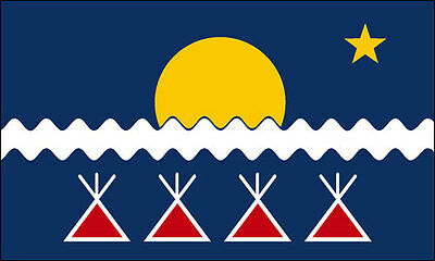 3x5 inch Athabascan Flag Sticker - us tribe native american indian alaska decal