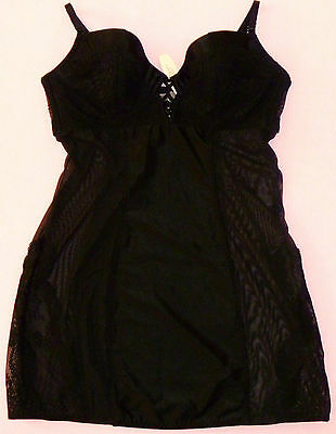 Victorias Secret VERY SEXY Bombshell Black Lace 2 Cup PUSH UP Slip 34D NWT RARE