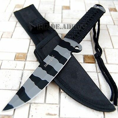 "9"" Fixed Blade Tactical Combat Hunting Survival Knife Camping Bowie HK738UC-W"