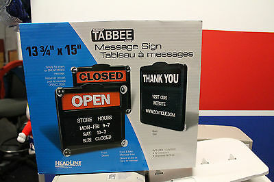 TABBEE MESSAGE SIGN