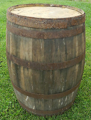 "STROEHMANN'S BAKERY BREAD BARREL WOOD LARGE 34"" TALL WILLIAMSPORT PA LYCOMING CO"