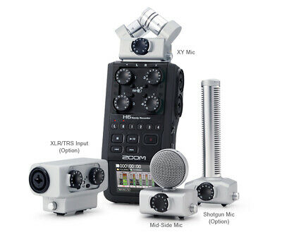 Zoom H6 Handy Audio Recorder with Interchangable Mic capsule