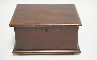 ANTIQUE WALNUT BOX WITH A HINGED LID AND A DIVIDED TRAY INTERIOR. 10... Lot 1416