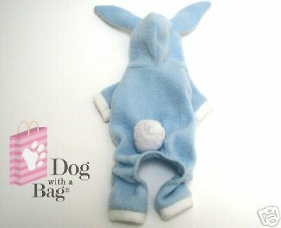 Blue Bunny Easter Yorkie Chihuahua Dog Costume Pajama Clothes Small