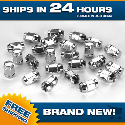 Extended Lugnuts - XL Lug Nut - Extended Lugs - Chrome - Set of 24 - 12x1.5