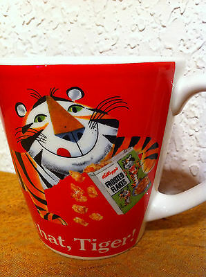 Set of 4 Vintage Kellogg's Frosted Flakes Tony the Tiger 8oz Mugs 2008 - NWT