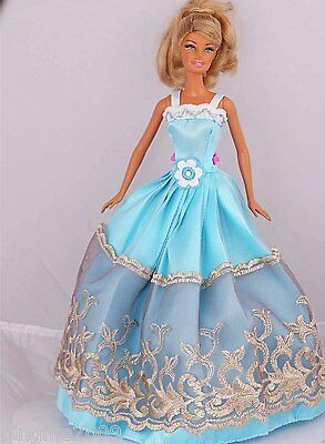 New Handmade Party Dress Clothes Outfits For Barbie Doll #959