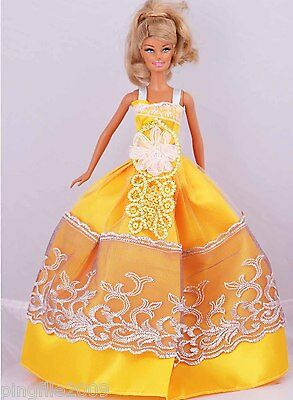New Handmade Party Dress Clothes Outfits For Barbie Doll #955