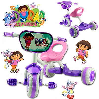 Disney Dora The Explorer Bike Trike Tricycle Kid Child 3 Wheel Car Ride On Toy