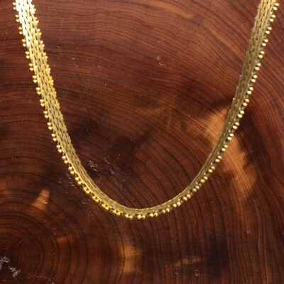 Vintage Sterling Silver 925 Made in Italy Gold Plate Women's Chain Necklace