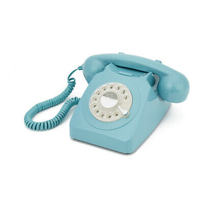 GPO 746 traditional rotary dialing telephone Blue