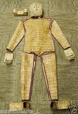 Han Dynasty Jade Old Burial Suit Set Chinese Antique Clothes armor Garment #436
