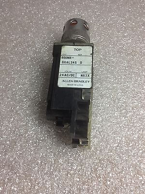 (ACAB-2) ALLEN-BRADLEY 800MR-QGAL24S SERIES D OPERATOR FOR PUSHBUTTON