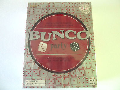 NEW, BUNCO PARTY, ULTIMATE DICE GAME BY FUNDEX, 2-12 PLAYERS, OFFICIAL IBF GAME