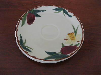 "3 Vintage Adams China Pottery Tulip Daffodil Saucer Plates 5 1/8"" round Dishes"