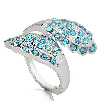 Hot sale new fashion inlaid upscale jewelry S80 Silver CZ rings    **R432-9