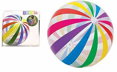 "42"" INTEX LARGE GIANT INFLATABLE BLOW UP JUMBO BEACH BALL HOLIDAY POOL PARTY"