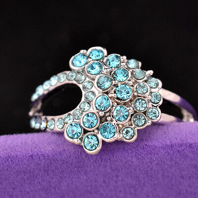 Hot sale new fashion inlaid upscale jewelry S80 Silver CZ rings    **R444-9
