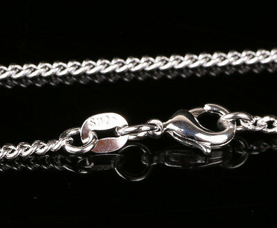 """1pcs 24cm 925 Sterling Silver """"O"""" type Chain Necklace Fashion Jewelry F24"""