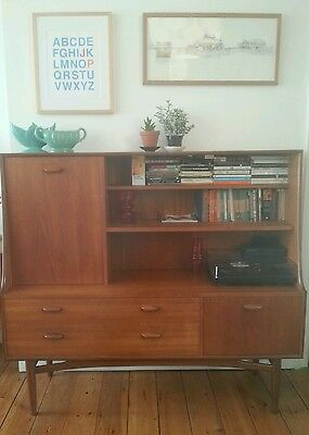 Vintage G Plan 1960s sideboard/highboard with drinks cabinet