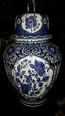 """Delft blue """"Boch for Royal Sphinx"""" lidded vase   ( small one)"""