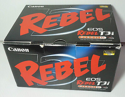 Canon EOS Rebel T3i 600D Digital SLR Camera + EF-S 18-55mm f/3.5-5.6 IS Lens