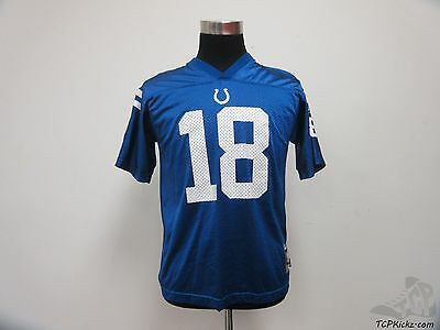Reebok Indianapolis Colts Payton Manning 18 Football jersey sz Youth XL 18-20