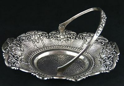 Antique 800 STERLING SILVER Basket 108 grams
