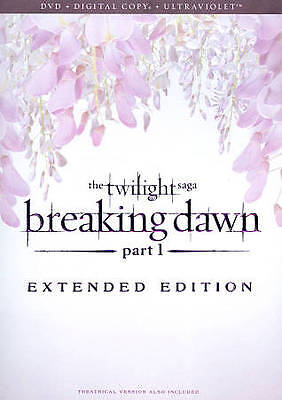 The Twilight Saga: Breaking Dawn - Part 1 (DVD, 2013, Extended; UltraViolet; Inc