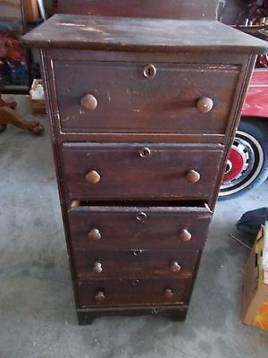 Antique Oak Lingerie Chest of Drawers