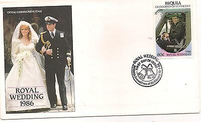 1986-GRENADINES OF ST.VINCENT-BEQUIA-FDC-ROYAL WEDDING.