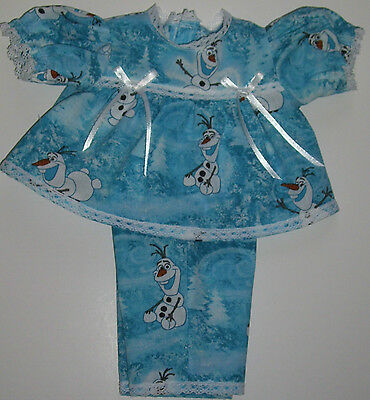 """Cabbage Patch 16"""" Doll Clothes BLUE  OLAF OF """"FROZEN""""  2 PIECE  PLAY SET"""