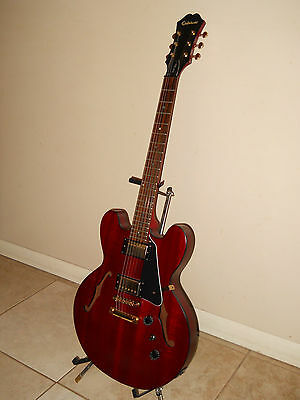 2008 EPIPHONE DOT STUDIO 335 ELECTRIC GUITAR NICE UPGRADES! EXCELLENT CND!!