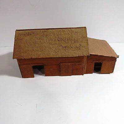 Old Rustic Wooden Barn Built from a Craftsman Kit, HO