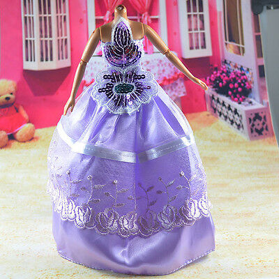 lovely New Handmade Party Clothes Fashion Dress for Noble Barbie Doll   **bab80
