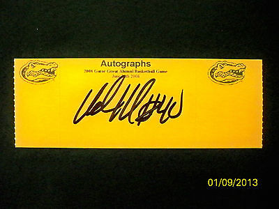 MIAMI HEAT STAR UDONIS HASLEM AUTOGRAPHED TICKET FROM GATOR GREAT ALUMNI GAME