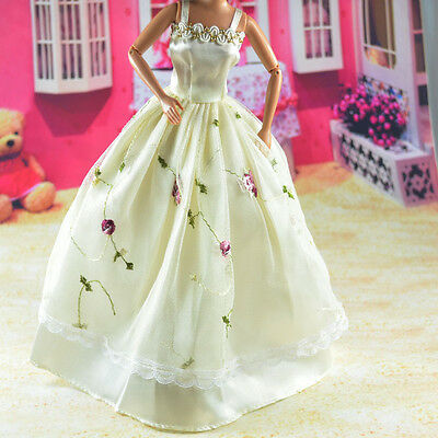 lovely New Handmade Party Clothes Fashion Dress for Noble Barbie Doll   **bab70