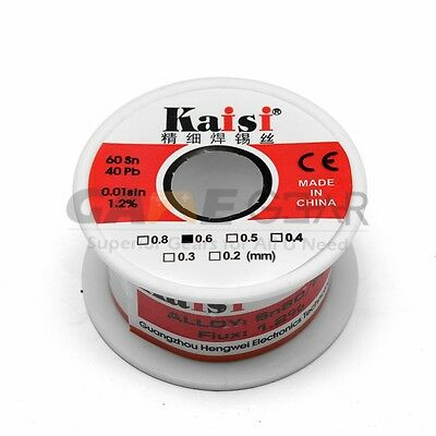 0.6mm 50G 60/40 Rosin Core Flux 1.2% Tin Lead Roll Soldering Solder Wire