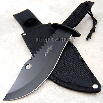 """12"""" Hunting Fixed Blade Tactical Combat Survival Knife w/ Sheath Bowie HK724-H"""