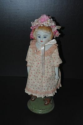 Stunning Antique China Doll Reproduction Glass Eyes Greiner Style Nice