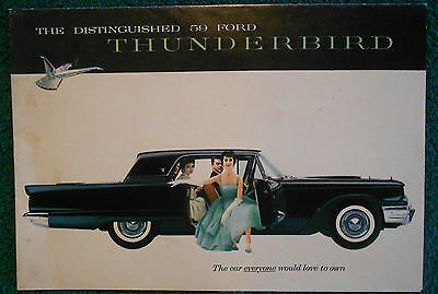 1959 Original Ford Thunderbird Sales Brochure Foldout