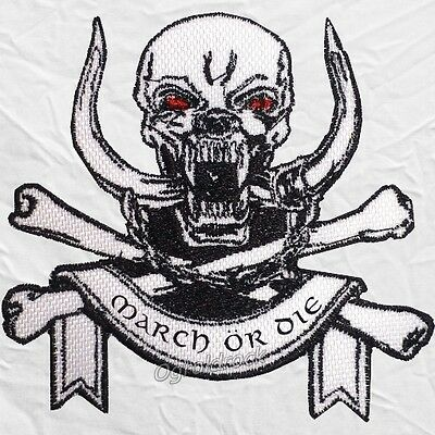 Motorhead March or Die Logo Embroidered Patch Rock Band Snaggletooth Warpig